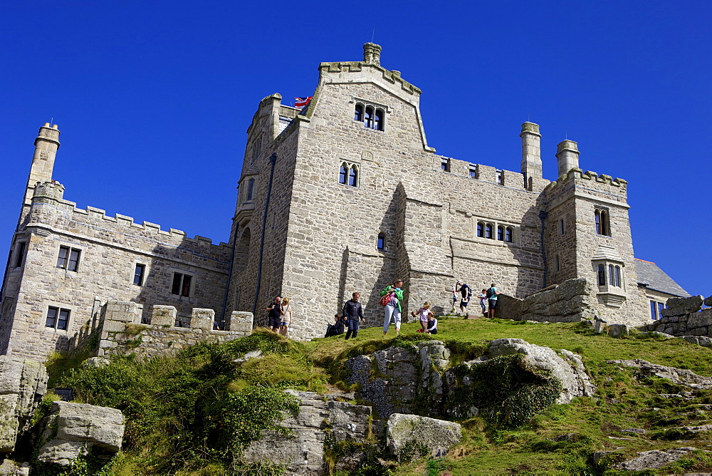 Castle house on St. Michael's Mount, Marazion, Cornwall, England, United Kingdom, Europe - 851-565