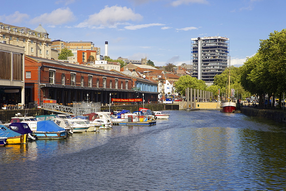 Bordeaux Quay and Watershed and Harbourside in Bristol, England, United Kingdom, Europe