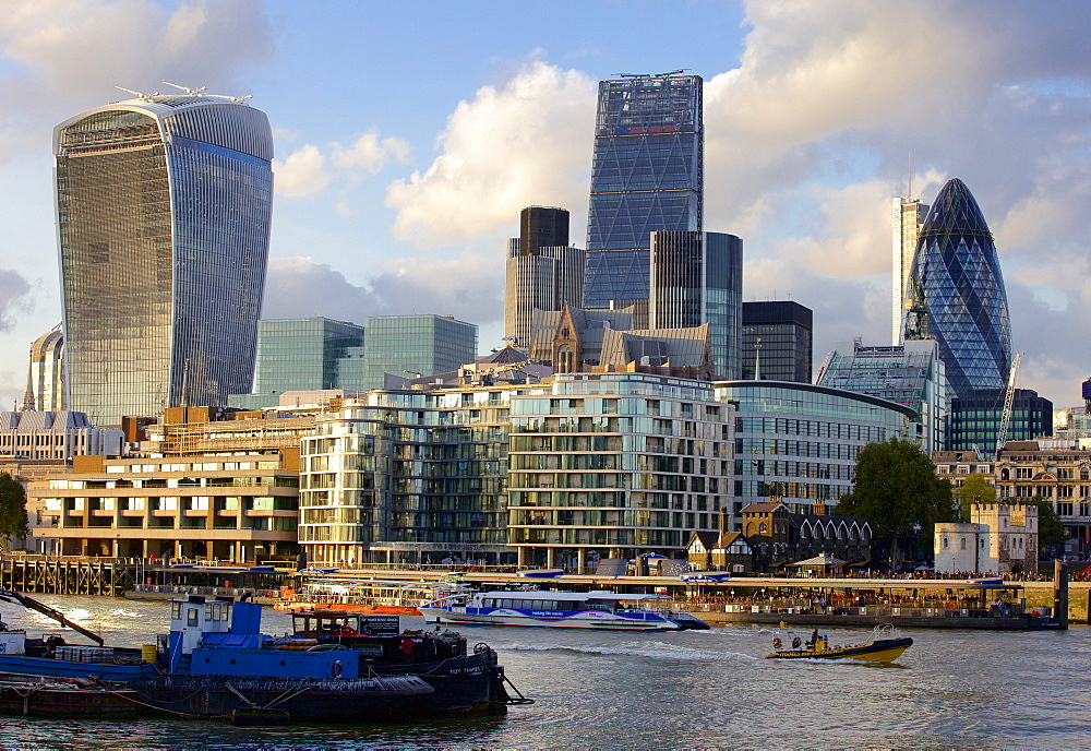 Buildings in the Financial district of the City of London, London, England, United Kingdom, Europe - 851-600