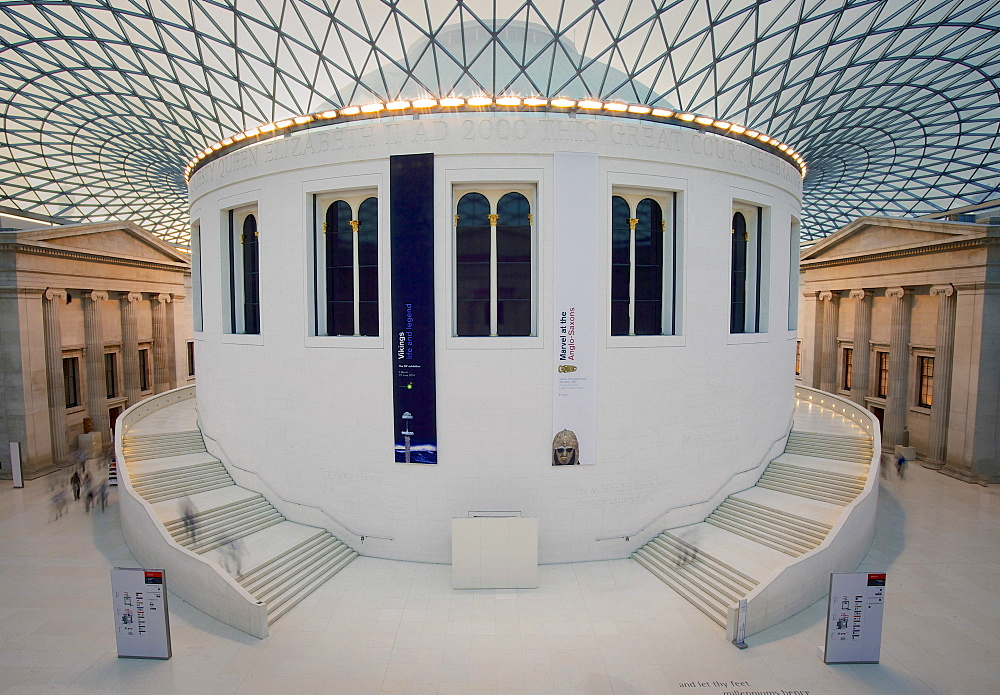The Great Court at the British Museum at twilight, London, England, United Kingdom, Europe - 851-604