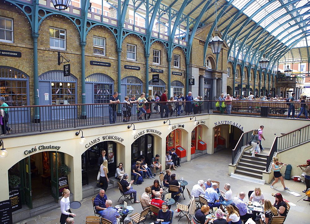 The interior of Covent Garden Market, London, England, United Kingdom, Europe - 851-610