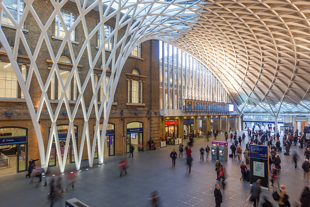 Kings Cross Railway Station in London, England, United Kingdom, Europe - 851-626