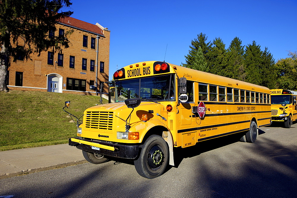 School Bus, St Joseph, Missouri, Midwest, United States of America, North America