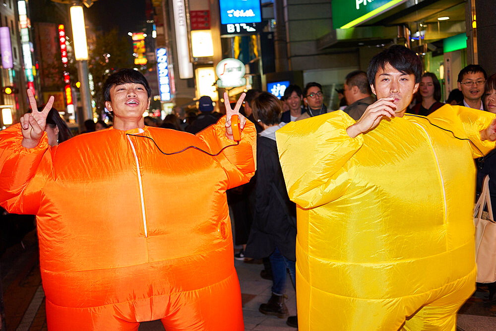 Two Japanese men at the Halloween celebrations in Shibuya, Tokyo - 851-642