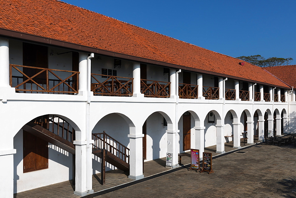 The Old Hospital building, now a new shopping complex in Galle Fort