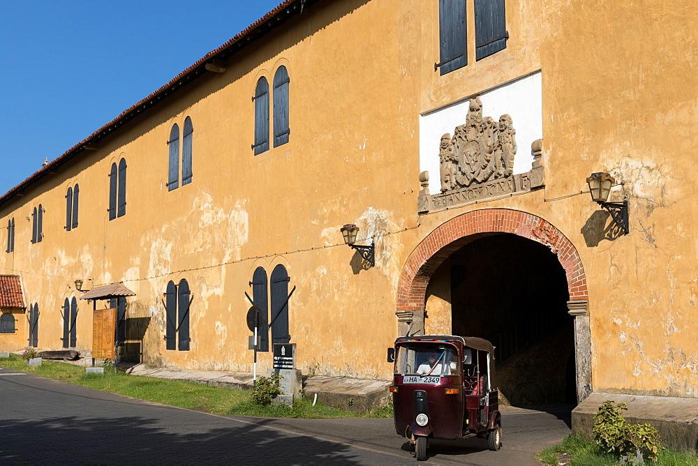The original Dutch entrance to the historic Galle Fort, UNESCO World Heritage Site, Sri Lanka, Asia - 851-682