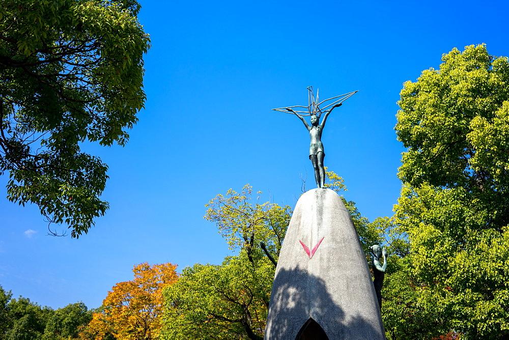 Children's Peace Monument, in the Hiroshima Peace Memorial Park, Hiroshima, Japan, Asia