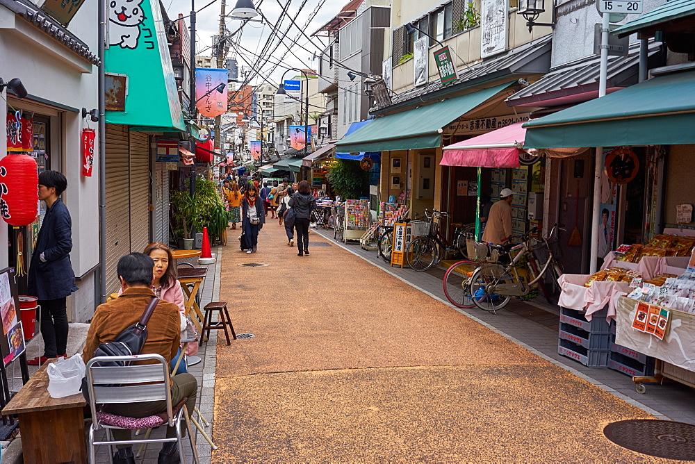 Yanaka Ginza shopping street in Tokyo's traditional Yanaka district, Tokyo, Japan, Asia - 851-801