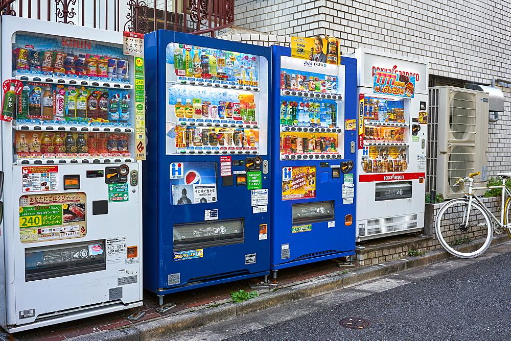 Drink vending machines in Tokyo, Japan, Asia - 851-816