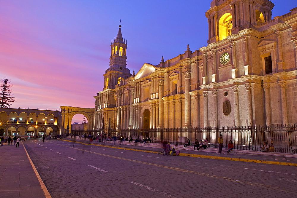Arequipa Cathedral, Plaza de Armas, Arequipa, peru, peruvian, south america, south american, latin america, latin american South America - 851-83