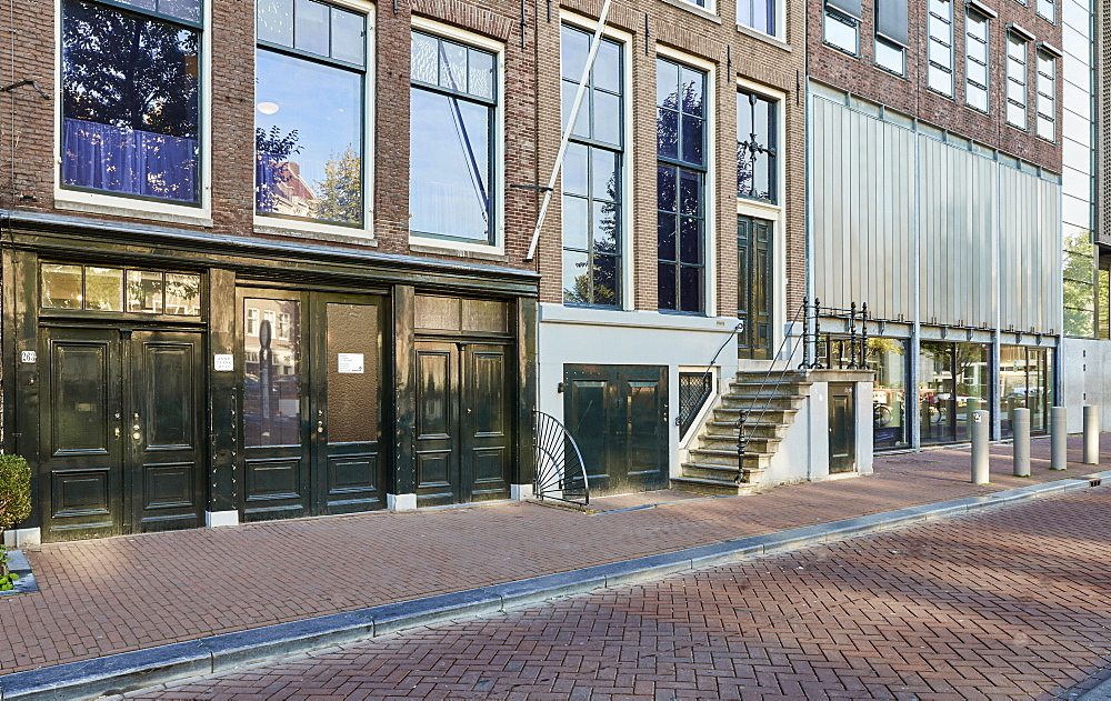 Anne Frank House & museum in Amsterdam, Netherlands. - 851-899
