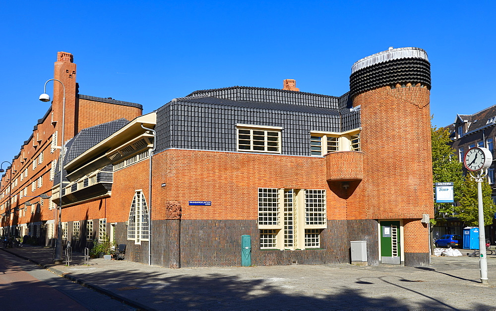 Het Schip, a 1920s social housing complex by Michel de Klerk, now a museum about the Amsterdam School architecture movement, Amsterdam, North Holland, The Netherlands, Europe - 851-902