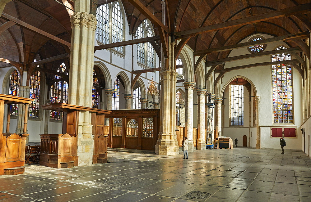 Interior of Oude Kerk (Old Church), Amsterdam, North Holland, The Netherlands, Europe - 851-919