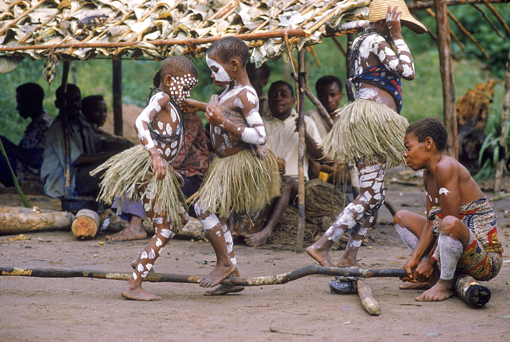 Pygmee mentruation dance, Republic of Congo (formerly Zaire) Ituri Forest.
