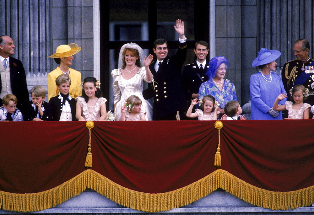 Princess Diana and King Charles at their wedding in London.