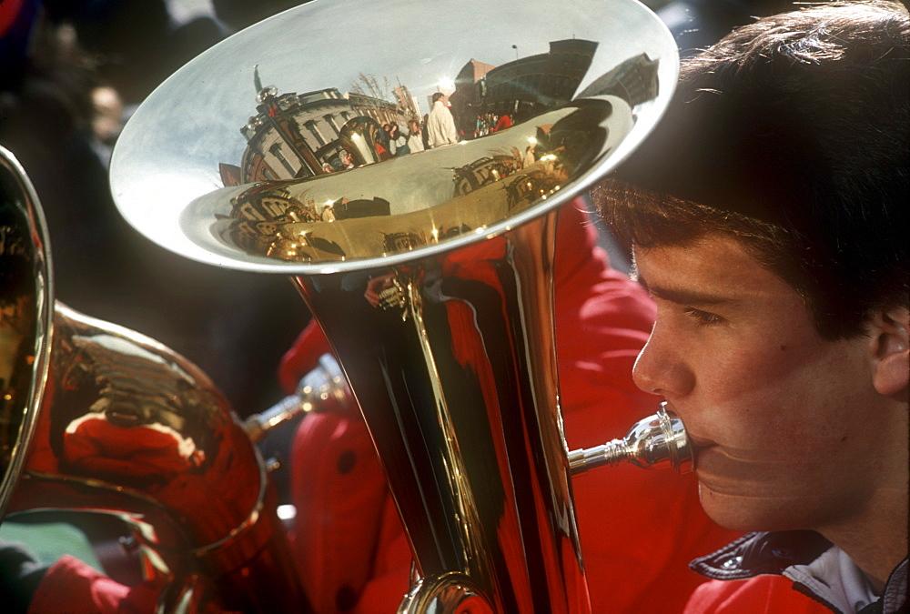 An annual Christmas tuba concert in Denver, Colorado.