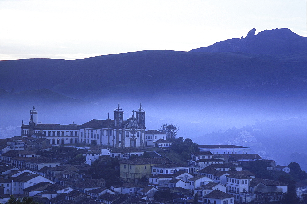 Igreja do Carmo, one of 13 baroque masterpiece churches, towers above the small city of Ouro Preto in Brazil's interior.