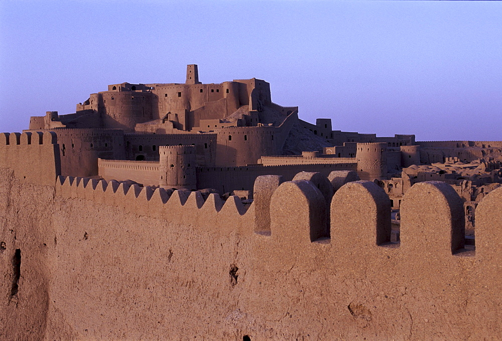 View from eastern wall at Bam Citadel in Bam, Iran.