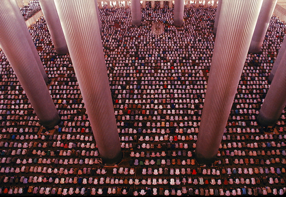 Istiqual Mosque in Jakarta, one of largest mosques in the world, during Friday noon prayers.