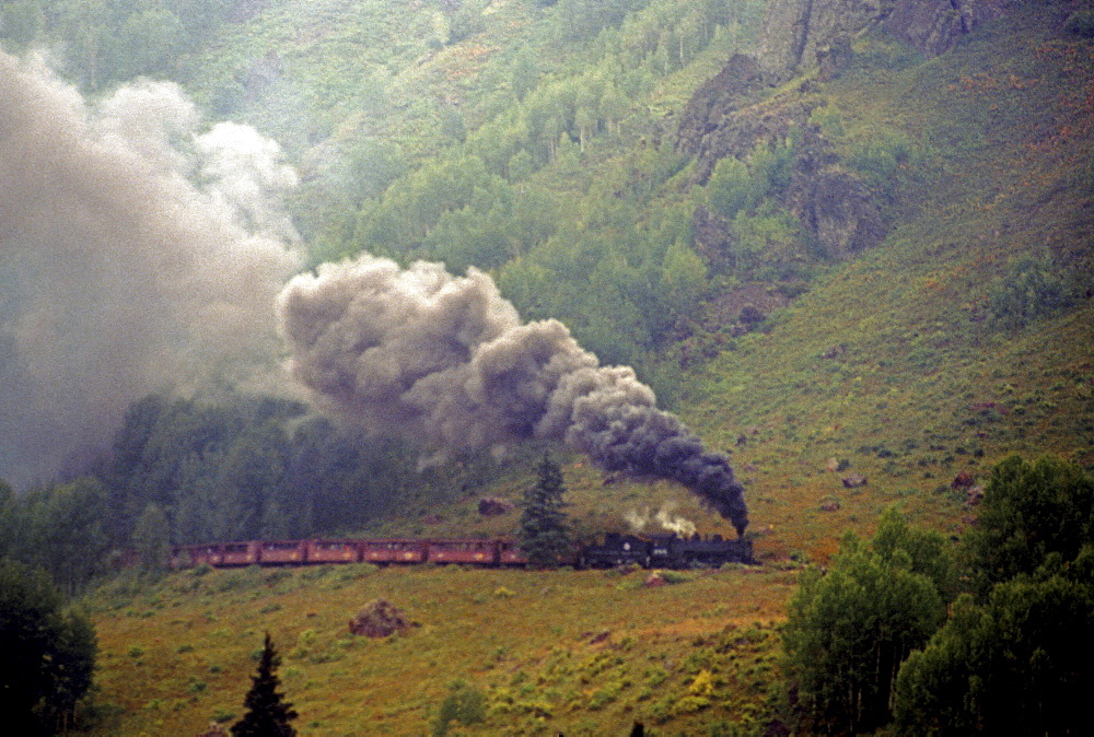 The Cumbres & Toltec Scenic Railroad travels between New Mexico and Colorado
