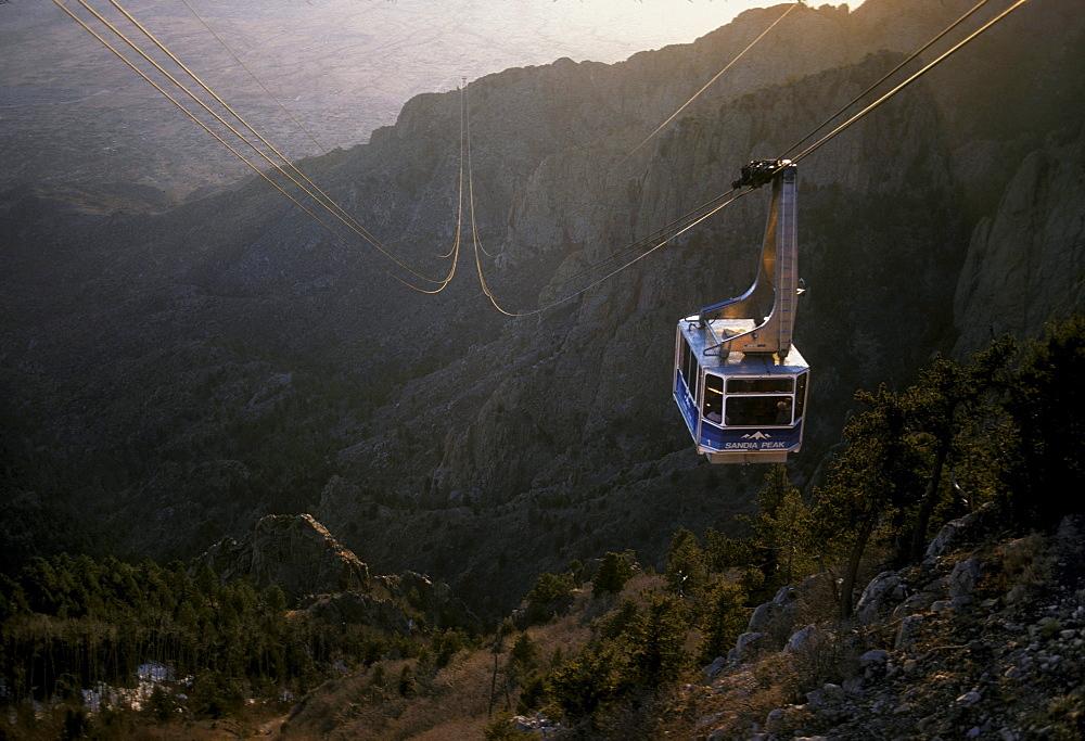 Tramway up Sandia Mountain, Albuquerque, New Mexico.