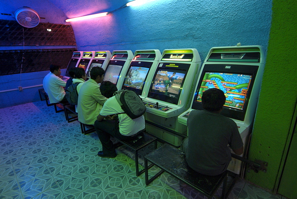 Mexican video game arcade.