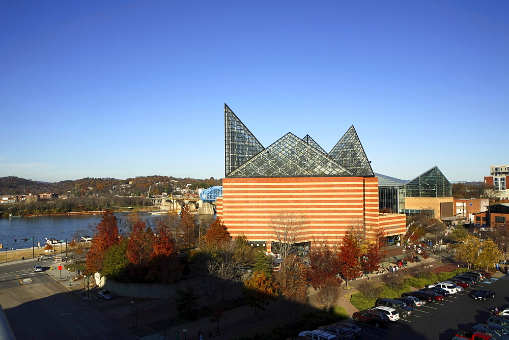 The Tennessee Aquarium in downtown Chattanooga, TN.