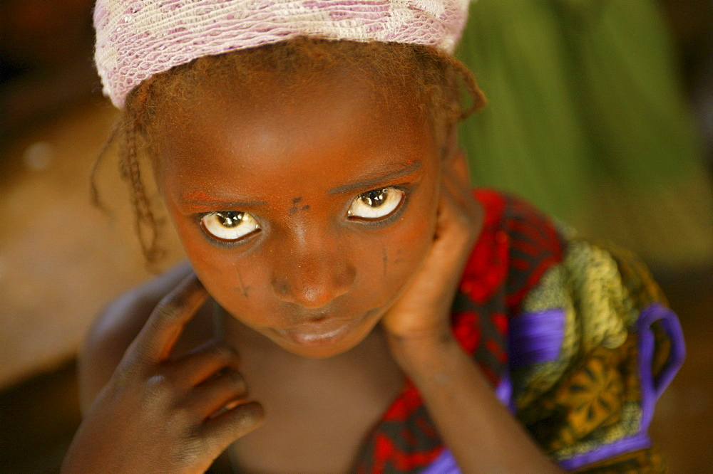 Portrait of a girl with scarification marks in Maradi, Niger.