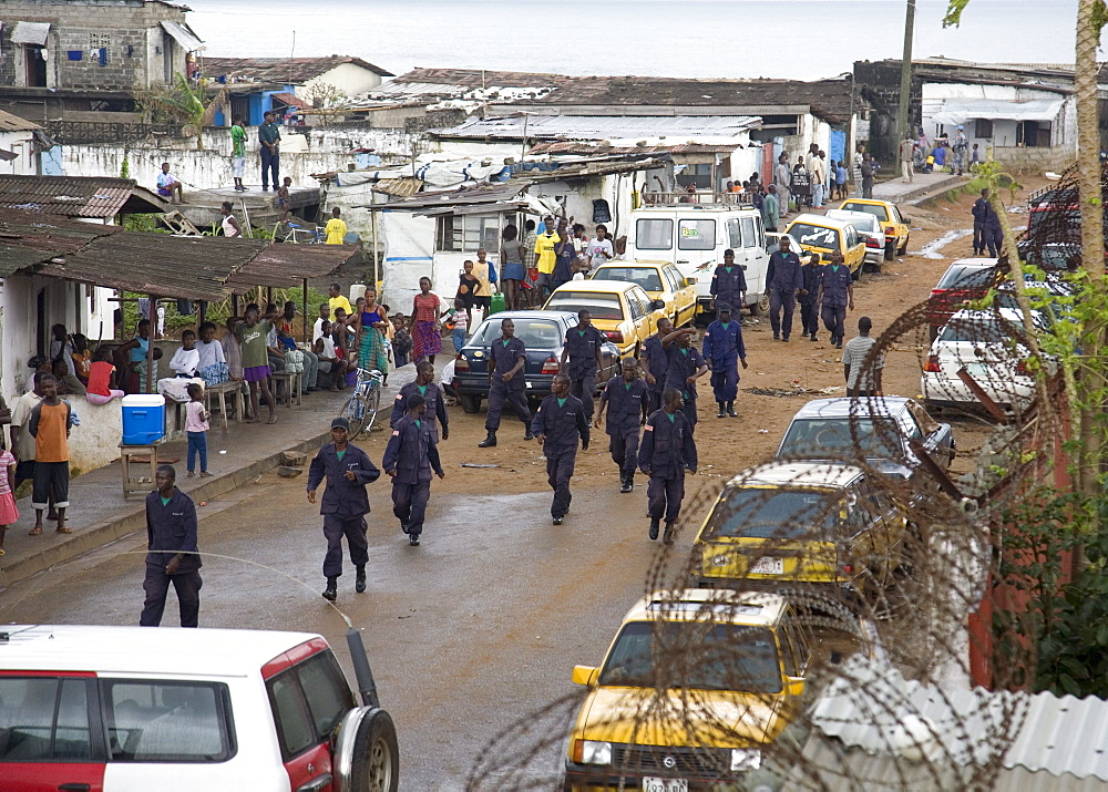 Liberian Police and UN on Patrol in Monrovia