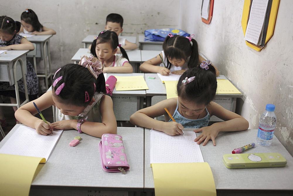 School chilren in Shanghai, China