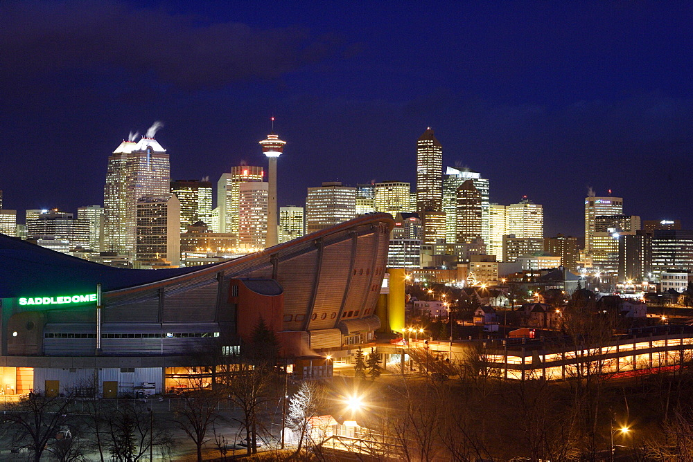 A view of downtown Calgary, Alberta, Canada, home to Canada's oil industry.