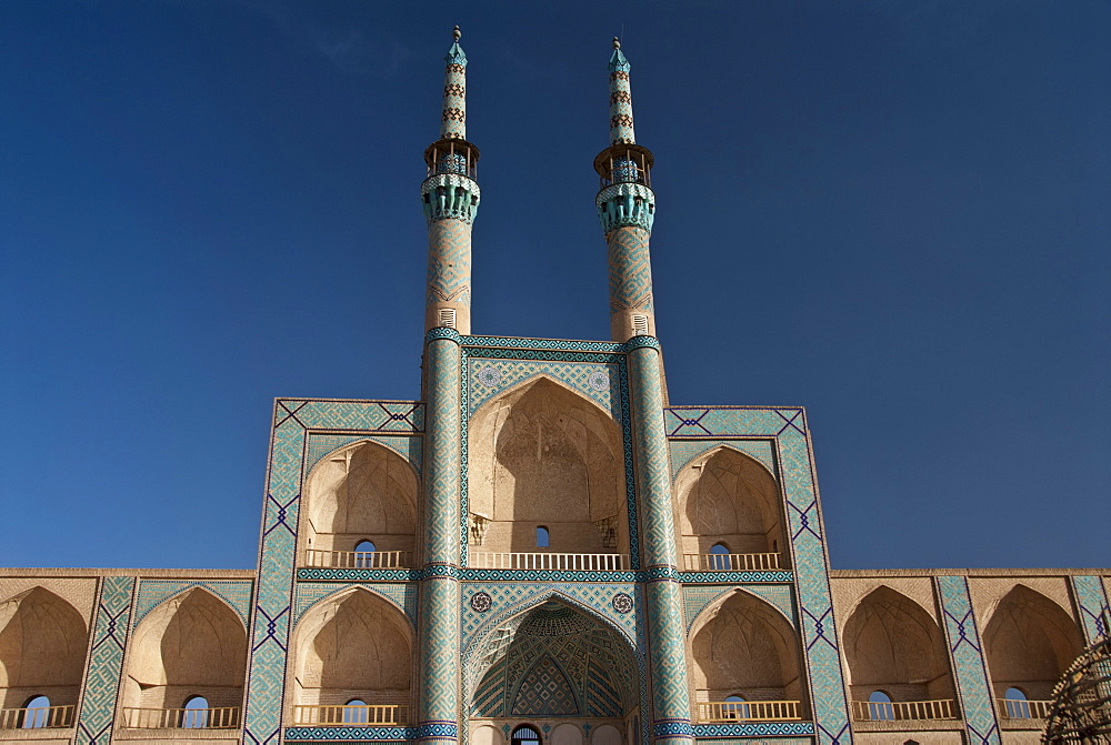 View of the Amir Chakhmaq Mosque in Yazd, Iran