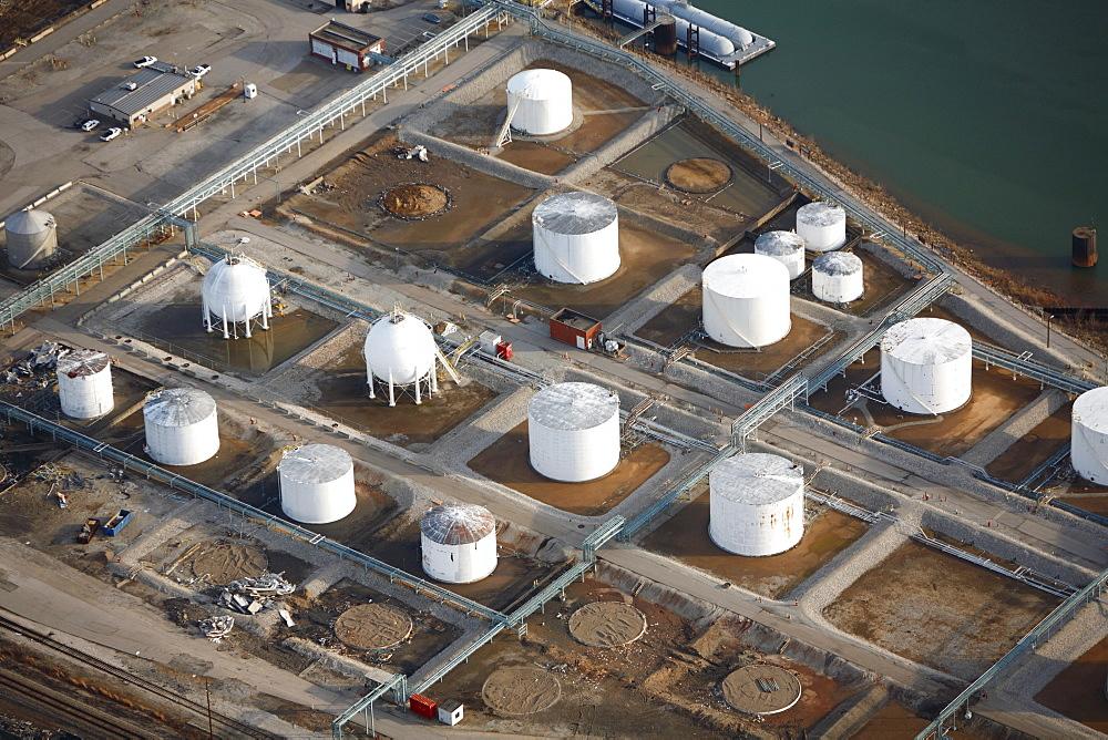 Aerial view of a petroleum