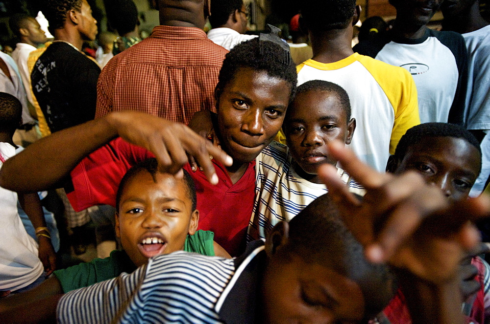 Haitian youth party at a ti sourit, or block party, in Port-au-Prince, Haiti.