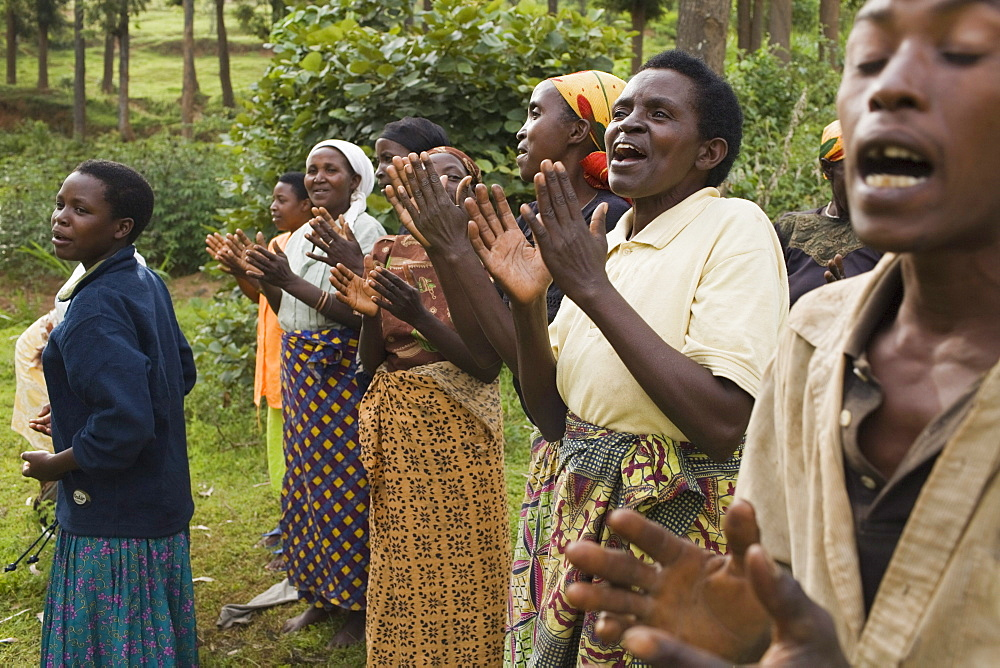 Village dance and song practice in Maraba, Rwanda