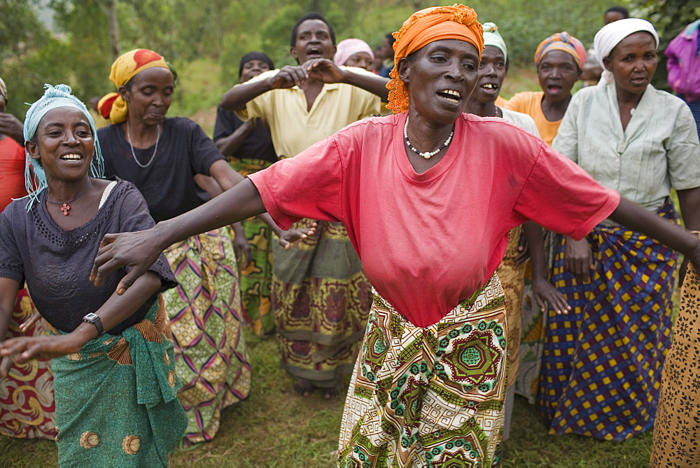 Village dance and song practice, Maraba, Rwanda