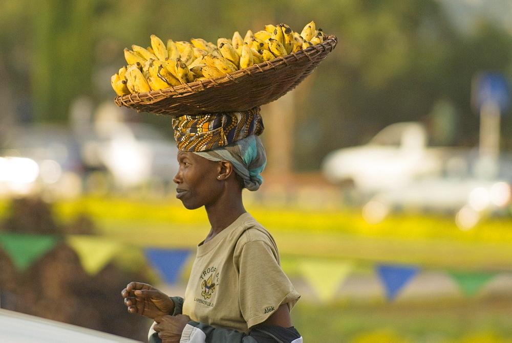 Banana vendor, Kigali, Rwanda