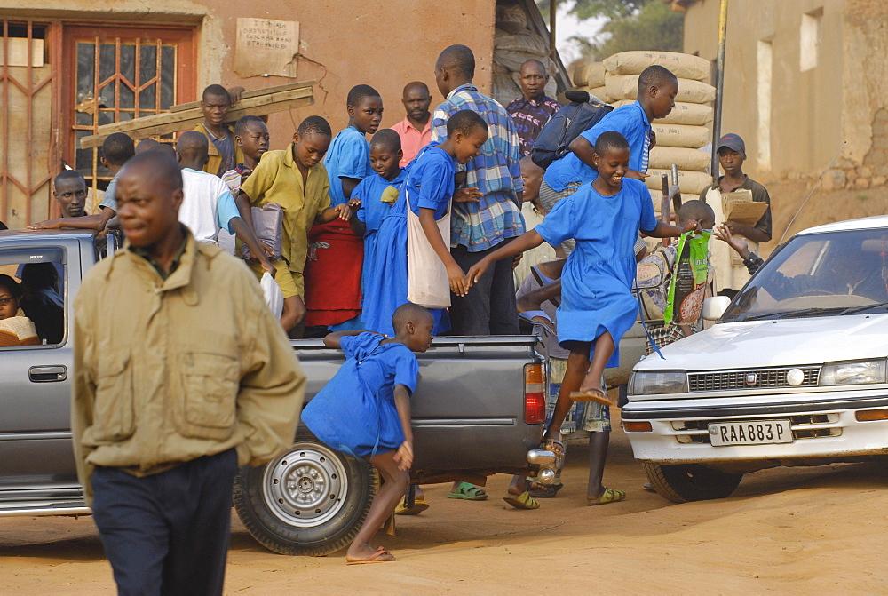 Schoolgirls in Kigali, Rwanda