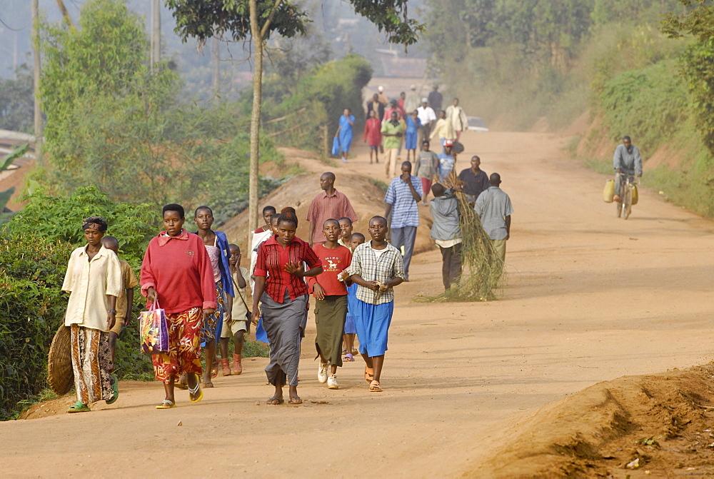 Morning commute, Kigali, Rwanda