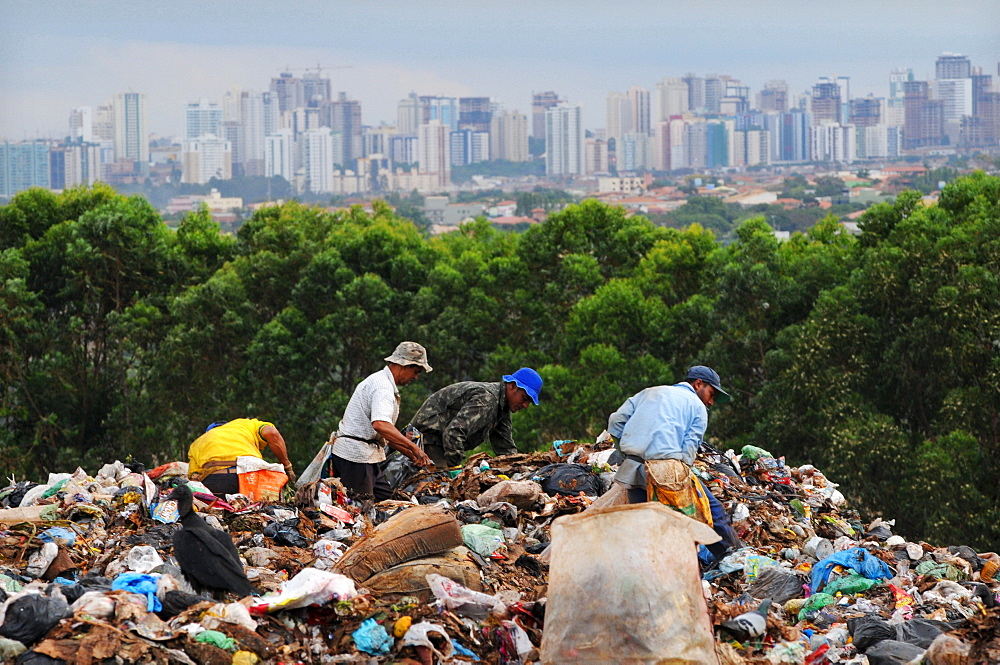 Garbage recycling in Brasilia, Brazil.