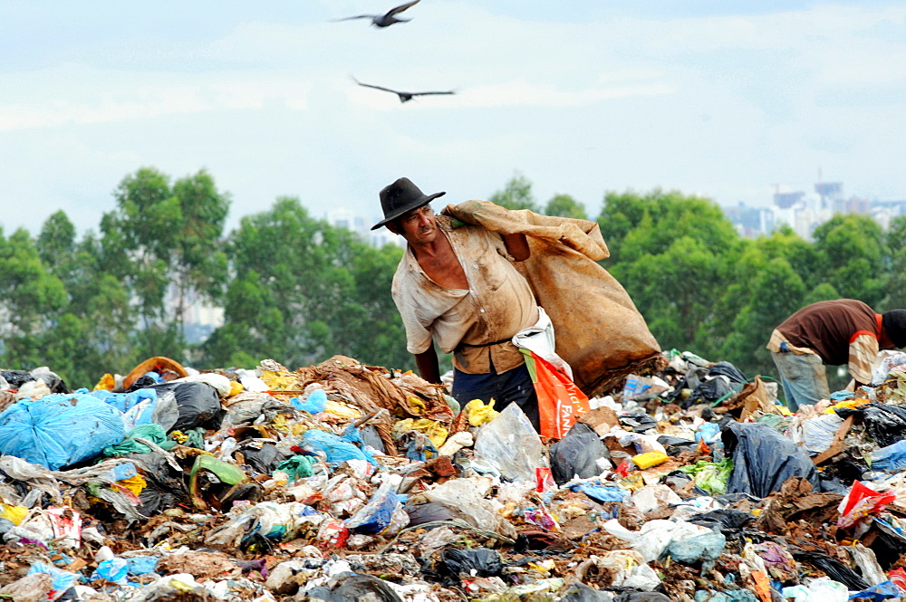 Garbage recycling in Brasilia, Brazil. - 857-53721