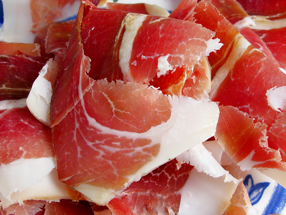 Prsuta, or Serbian dried ham.
