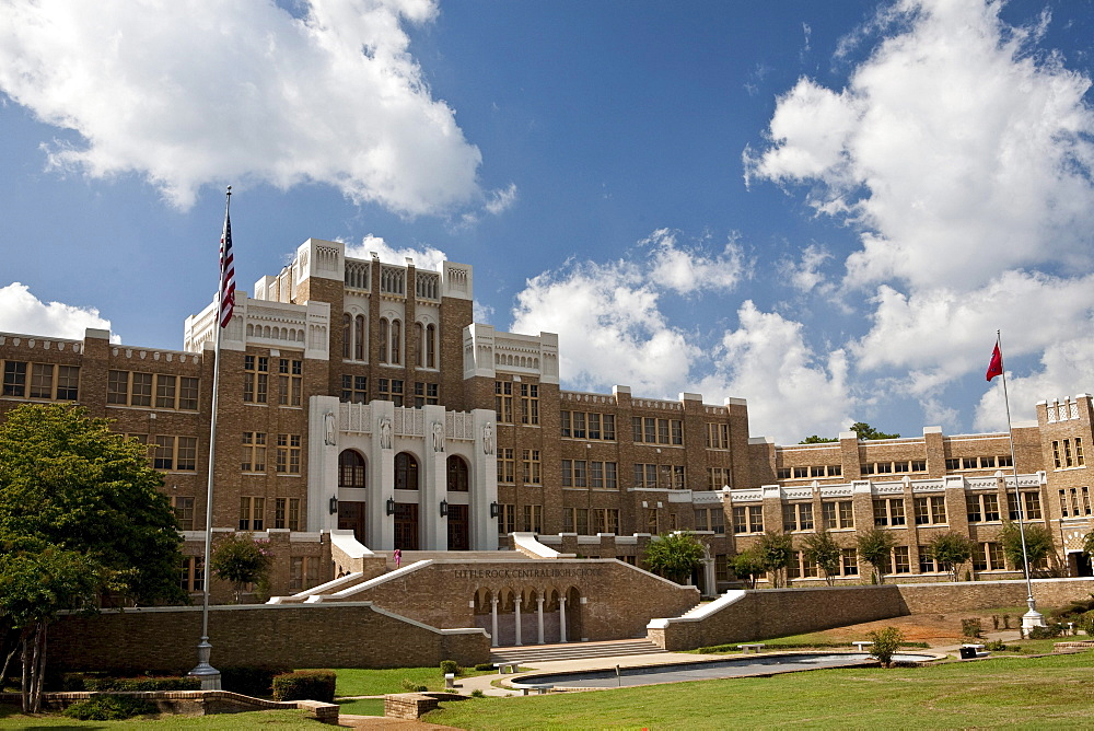 Central High School, Little Rock, Arkansas site of the 1957 school integration/desegregation riots & federal government intervention.