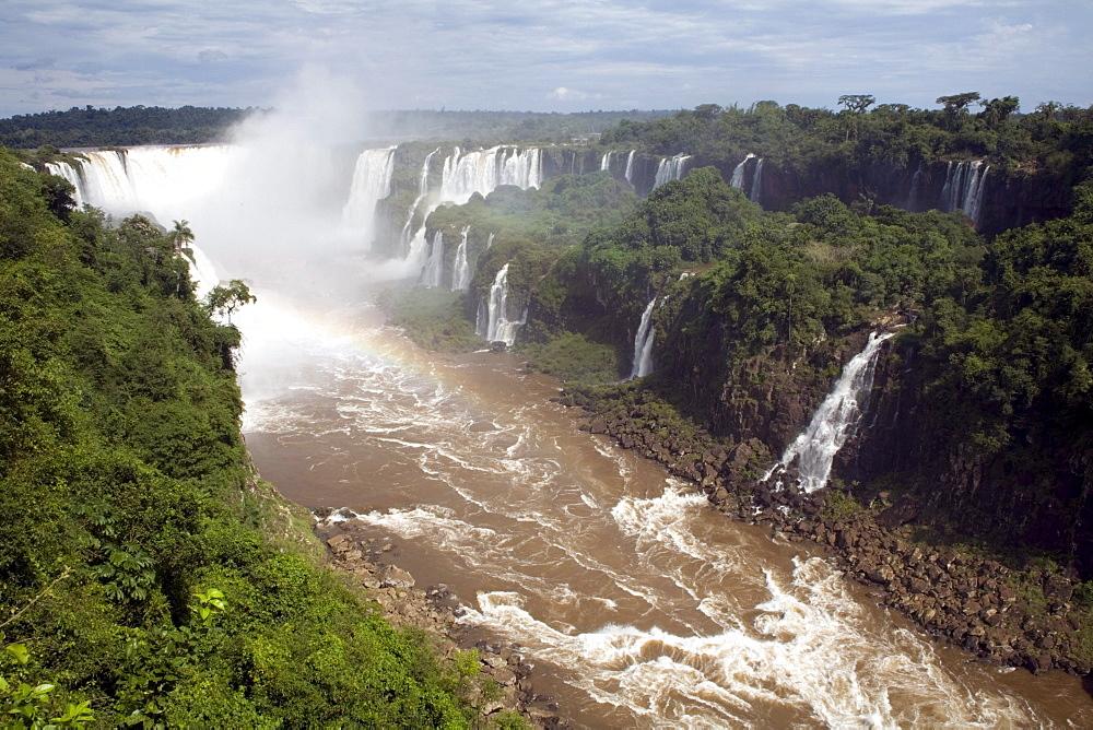 Waterfalls at Iguazu National Park, Brazil.