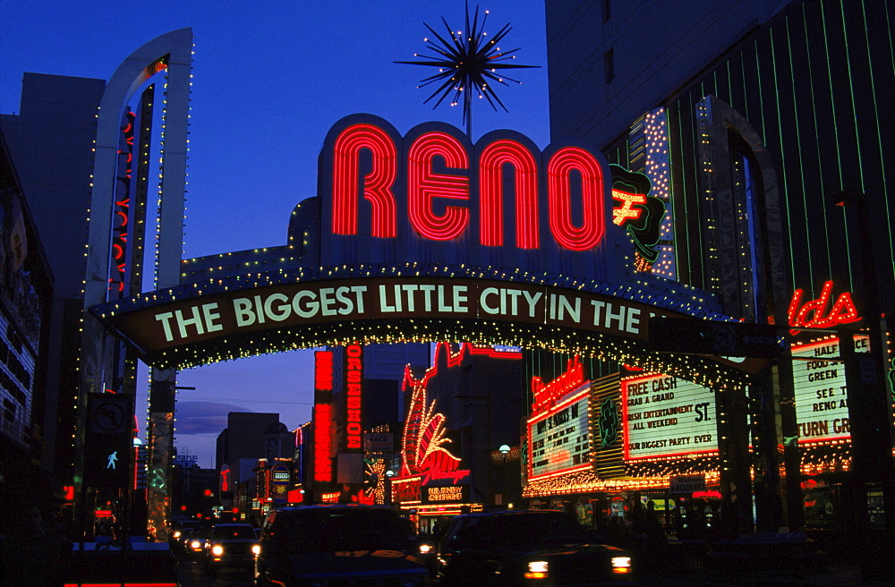 Downtown Reno, Nevada.