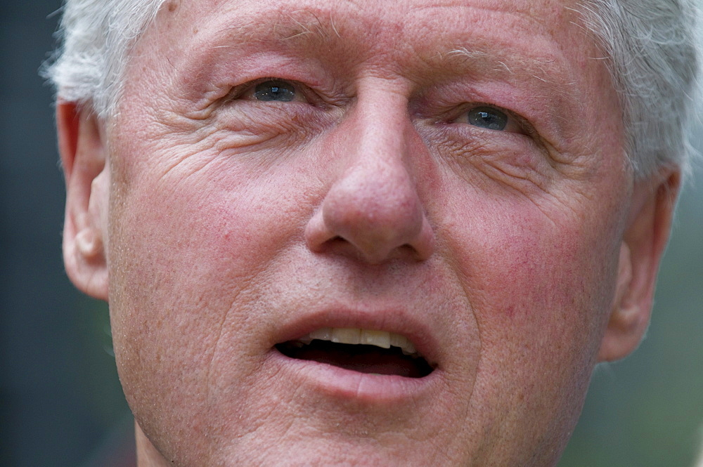 Bill Clinton in downtown Pittsburgh, Pennsylvania the day before the PA primary.