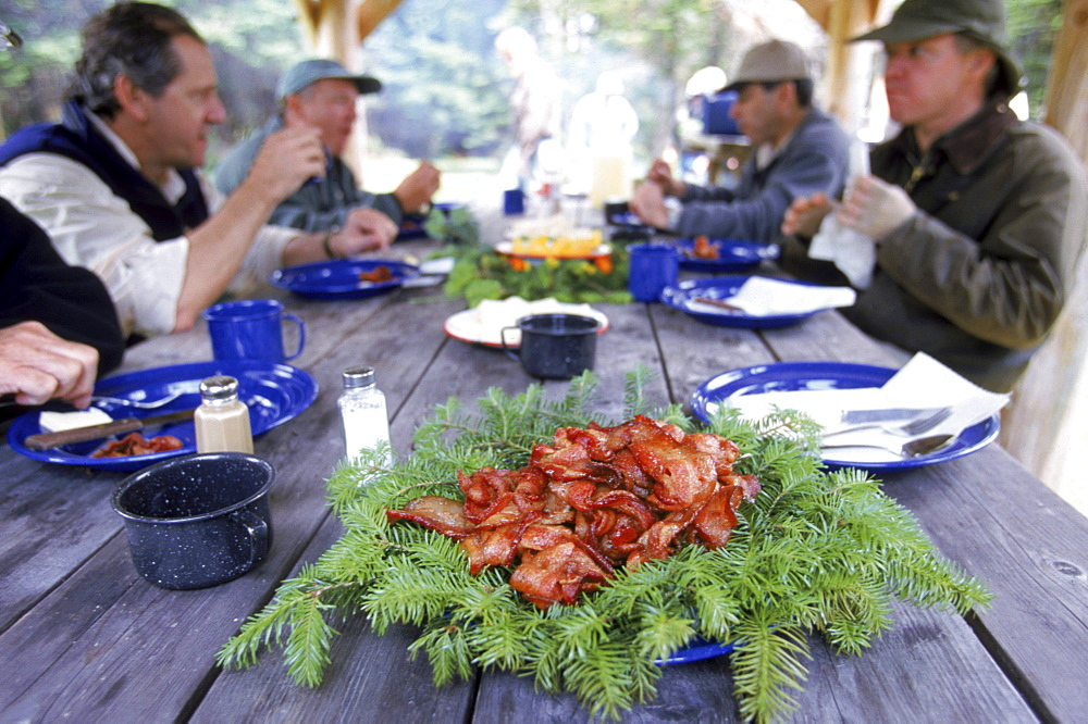 Fly Fishing dinner at an exclusive private camp in Northern Maine near the Canadian border.