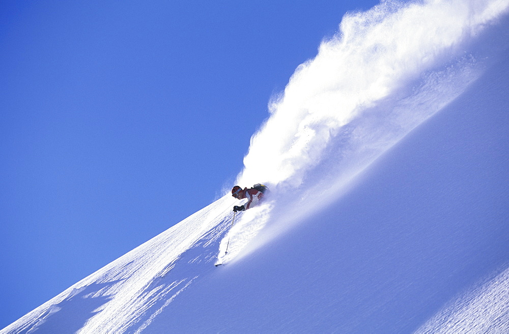 Dave Swanwick ripping it up skiing in Champery, Switzerland, Switzerland