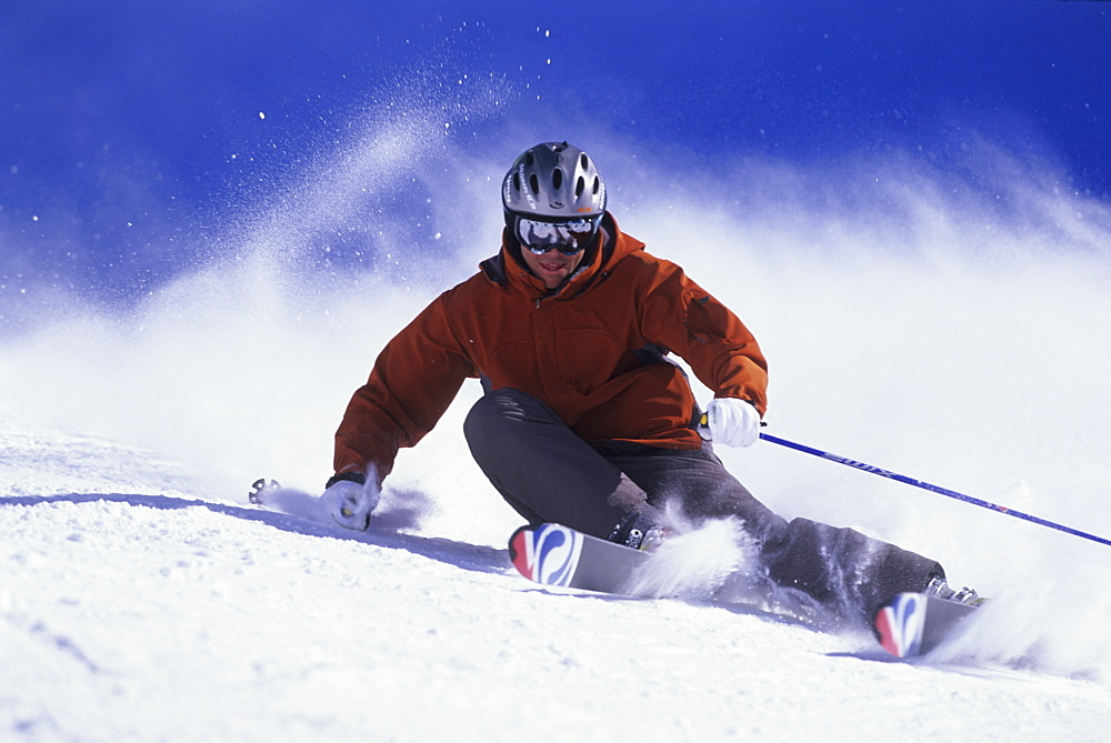 Chris Davenport skiing at Alta, Utah, United States of America