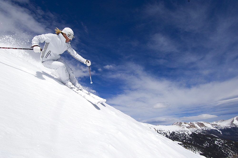 Hannah Hardaway skiing at Loveland, Colorado, United States of America